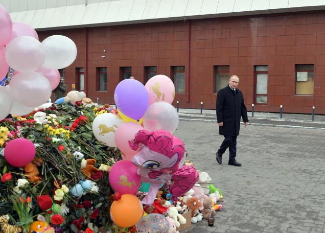 Vladimir Poutine, àKemerovo (Russie), le 27 mars.