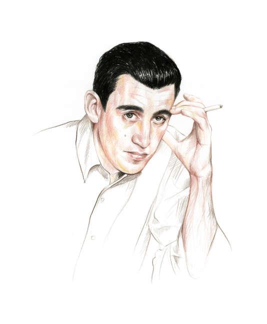L'écrivain américainJ. D. Salinger (1919-2010).