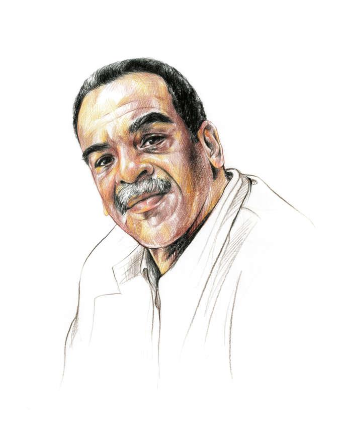 L'écrivain Edouard Glissant (1928-2011).