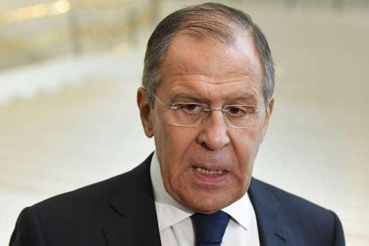 Le ministre russe des affaires étrangères, Sergueï Lavrov, le 27 mars à Tachkent.
