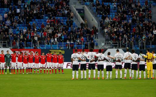 Lors du match Russie-France, le 27 mars à Saint-Pétersbourg.