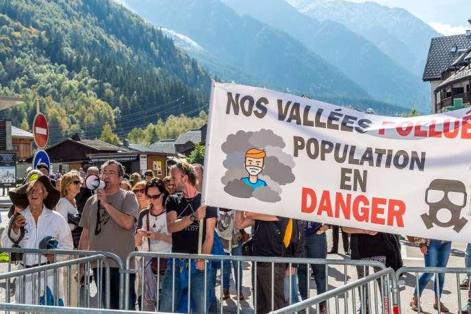 En 2017, lors de sa visite dans la vallée de l'Arve, le ministre Nicolas Hulot avait été accueilli par une manifestation anti-pollution.