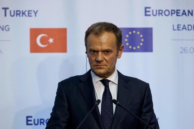Donald Tusk, président du Conseil européen, à varna, le 26 mars.