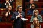 Jean-Luc Mélenchon, député la France Insoumise des Bouches-du-Rhône prend la parole pendant la séance de questions au gouvernement, Paris, 27 mars 2018 / AFP / FRANCOIS GUILLOT