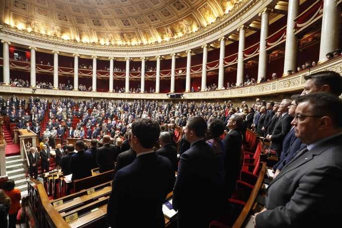 Une minute de silence a été respectée à l'Assemblée nationale le 27mars.