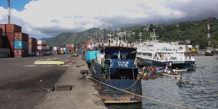 Le port de Mutsamudu, sur l'île d'Anjouan, aux Comores, le 21 mars 2018.