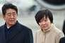 Shinzo Abe et son épouse Akie Abe,à l'aéroport Haneda de Tokyo, le 28 février.