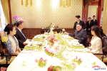 Le dirigeant nord-coréen et le président chinois Xi Jinping, en compagnie de leurs épouses, le 28 mars.