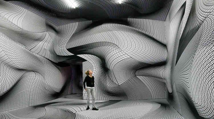 Le travail de l'artiste multimédia Peter Kogler intègre les domaines de l'architecture, du cinéma, sans oublier les médias numériques. Ses œuvres emploient un vocabulaire de motifs – la fourmi, le tuyau, le cerveau et le labyrinthe – dont il se sert pour créer des dessins et des objets en carton.