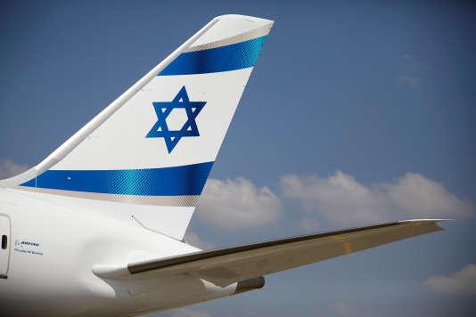 Avion de la compagnie El Al à l'aéroport Ben Gourion de Tel-Aviv, en août 2017.