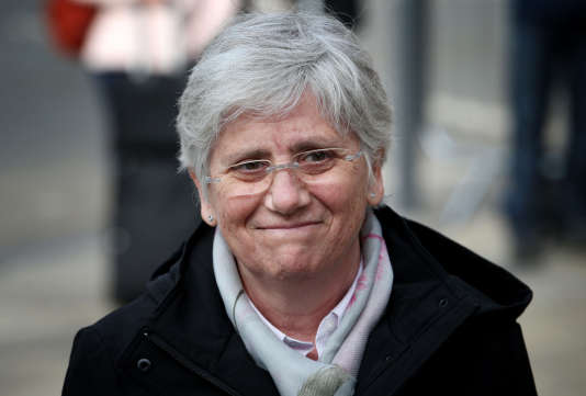 L'ancienne ministre de l'éducation catalane,Clara Ponsati, àEdimbourg le 25 mars.