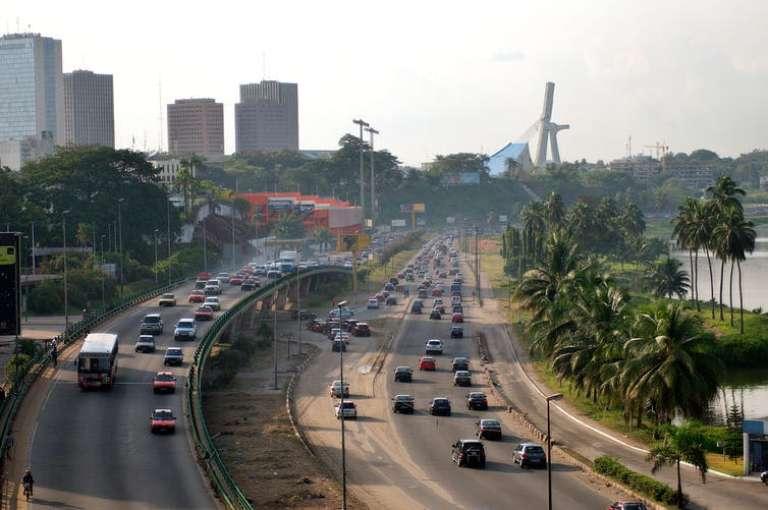 Le boulevard de Gaulle, à Abidjan.