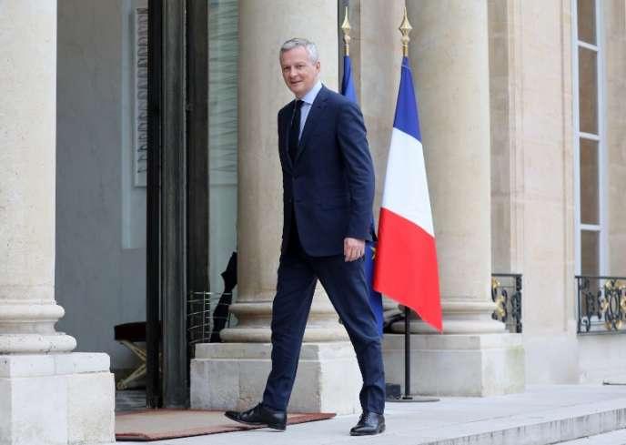 Le ministre des finances, Bruno Le Maire, à l'Elysée, le 26 mars.