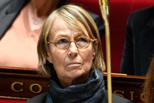 La ministre de la culture Françoise Nyssen à l'Assemblée nationale à Paris, le 28 mars 2018.