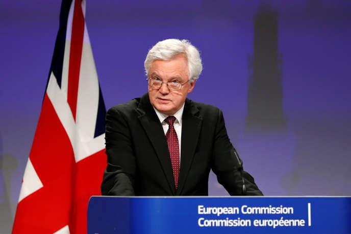 David Davis, secrétaire d'Etat britannique à la sortie de l'Union européenne, à Bruxelles, 19 mars.