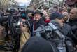 Jean-Luc Mélenchon, lors de la marche blanche en hommage à Mireille Knoll, à Paris, le 28 mars.