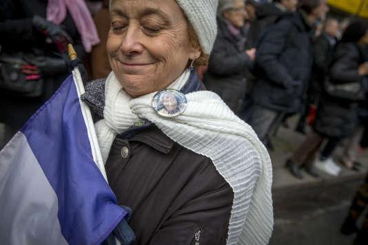 Marche blanche à Paris, le 28 mars, pour l'octogénaire juive Mireille Knoll, assassinée dans son appartement parisien.