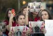 Des étudiants d'un établissement güléniste à Pristina (Kosovo) manifestent contre l'exfiltration de plusieurs de leurs professeurs, le 29 mars.