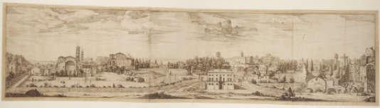 « Vue du Forum depuis le Colisée», par Israël Silvestre (vers 1643-1653), Paris, Fondation Custodia, collection Frits Lugt.