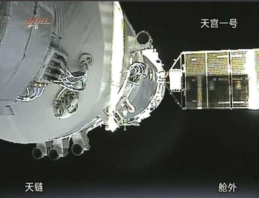 Des images de «Tiangong1» en novembre 2011.