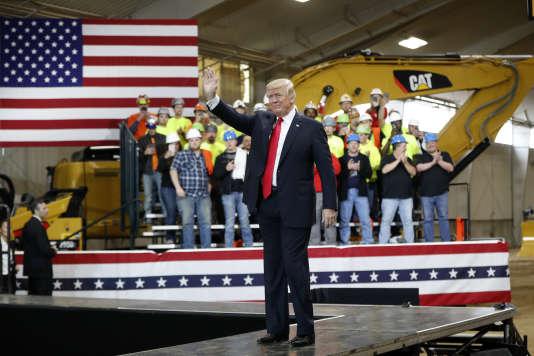 Donald Trump lors de son discours à Richfield, dans l'Ohio, le 29mars.