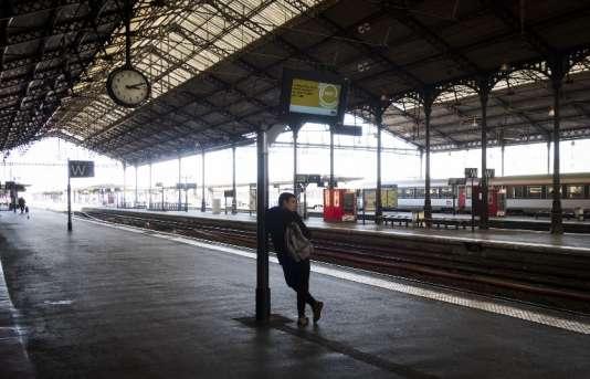 Gare de Toulouse-Matabiau, lors d'une grève SNCF, le 22 mars.