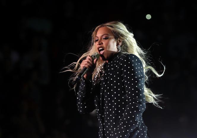 Beyoncé lors d'un concert, le 4 novembre 2016 à Cleveland, Ohio.