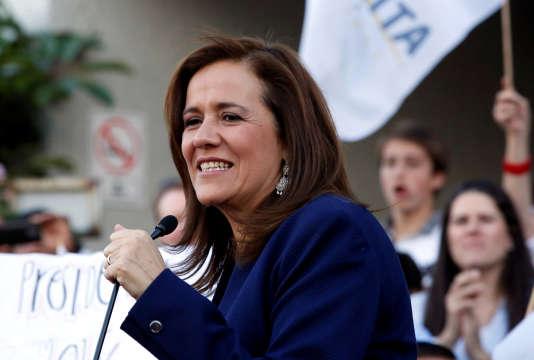 Margarita Zavala, en meeting électoral à Mexico, le 11 mars.