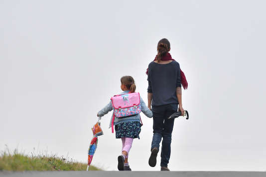 Sur le chemin de l'école.