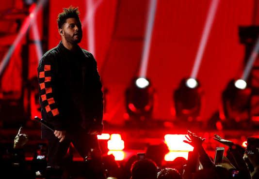 The Weeknd lors d'un festivalau T-Mobile Arena à Las Vegas, le 22 septembre 2017.