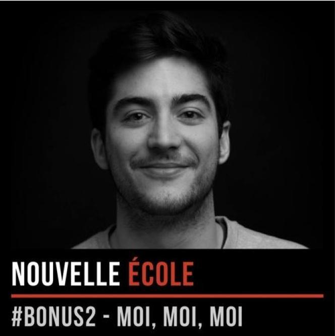 Antonin Archer, fondateur du podcast Nouvelle Ecole.