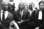 François Compaoré, à la sortie de la chambre de l'instruction de la cour d'appel de Paris, le 28 mars 2018.
