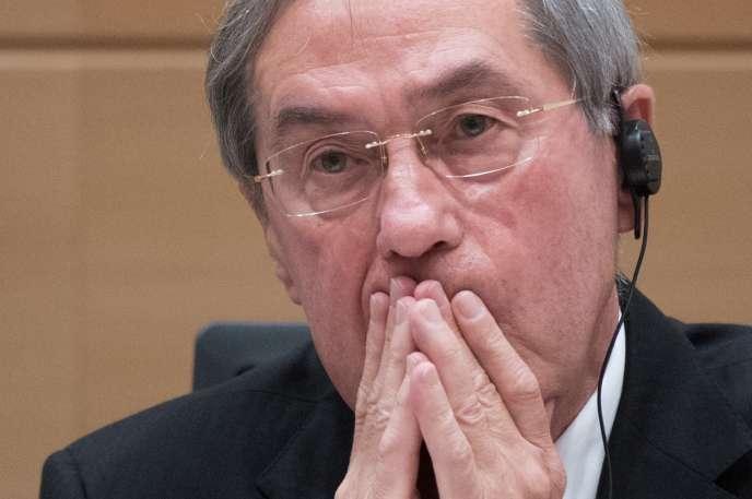 Claude Guéant à Bruxelles, en mai 2017.