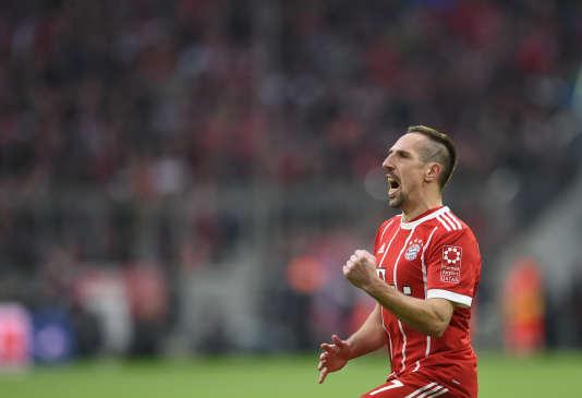 Franck Ribéry, le 31 mars, contre le Borussia Dortmund à l'Allianz Arena de Munich.