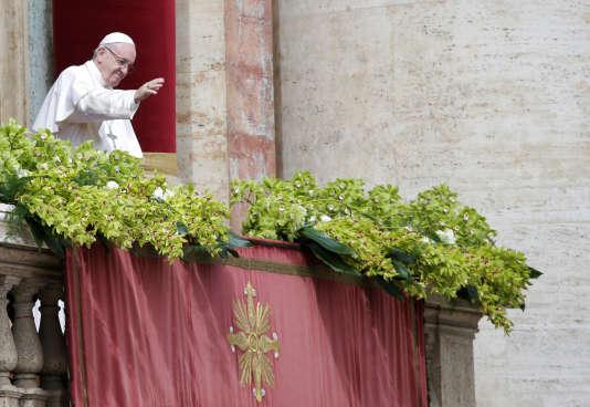 Le pape François donnesa bénédiction «Urbi et Orbi» (à la ville de Rome et au monde), dimanche 1er avril.