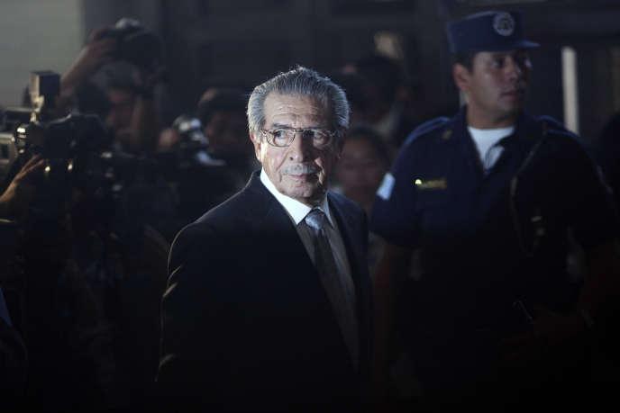Efrain Rios Montt lors de son procès pour génocide en janvier 2012 à Guatemala.