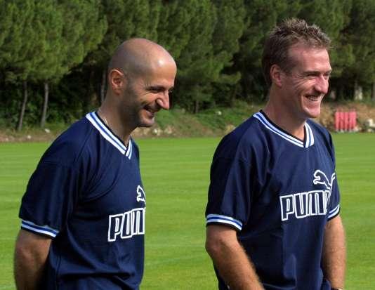 Avec Didier Deschamps, époque AS Monaco.