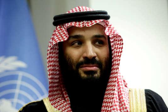 Le prince héritier saoudien Mohammed Ben Salmane lors d'une visite au siège de l'ONU, à New York, le 27 mars.