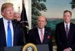 Donald Trump présente de nouvelles taxes sur des produits chinois mardi 3avril à Washington.