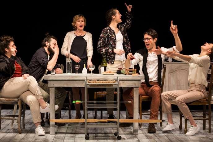 «La Truite», de Baptiste Amann, mise en scène par Rémy Barché, au Théâtre Ouvert, jusqu'au 14 avril.
