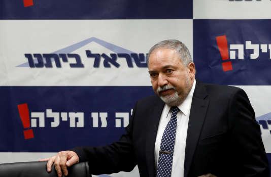 Le ministre israélien de la défense Avigdor Lieberman le 12 mars 2018.