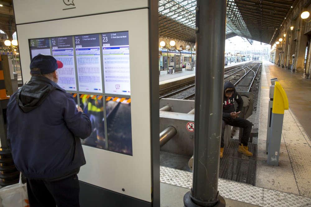 Gare du Nord, mardi.
