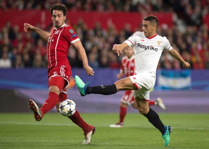 Wissam Ben Yedder, sous le maillot blanc du FC Séville.