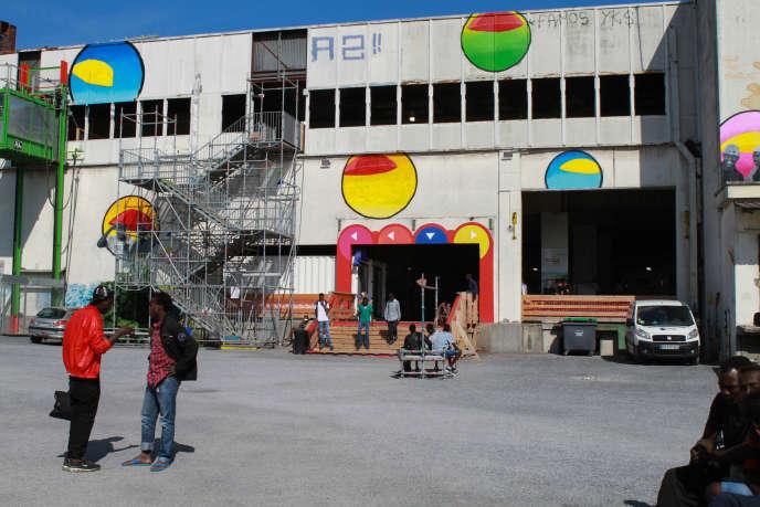 Le centre d'accueil pour migrants de La Chapelle, le 21 juillet 2017.