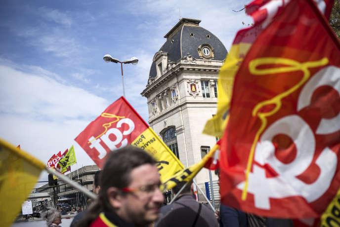 Premier jour de grève de la SNCF à Toulouse, mardi 3 avril 2018.