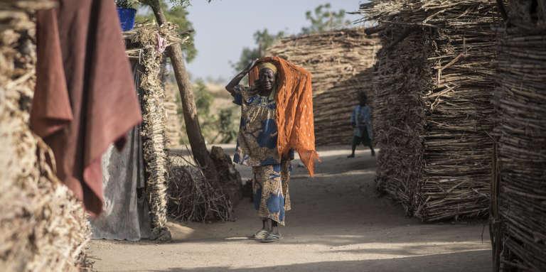Fadimata Djibril, 60ans, dans le camp de déplacés de Zamaï, au Cameroun, le 25 janvier 2018.