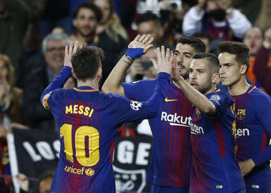 Les joueurs du FC Barcelone, en avril.