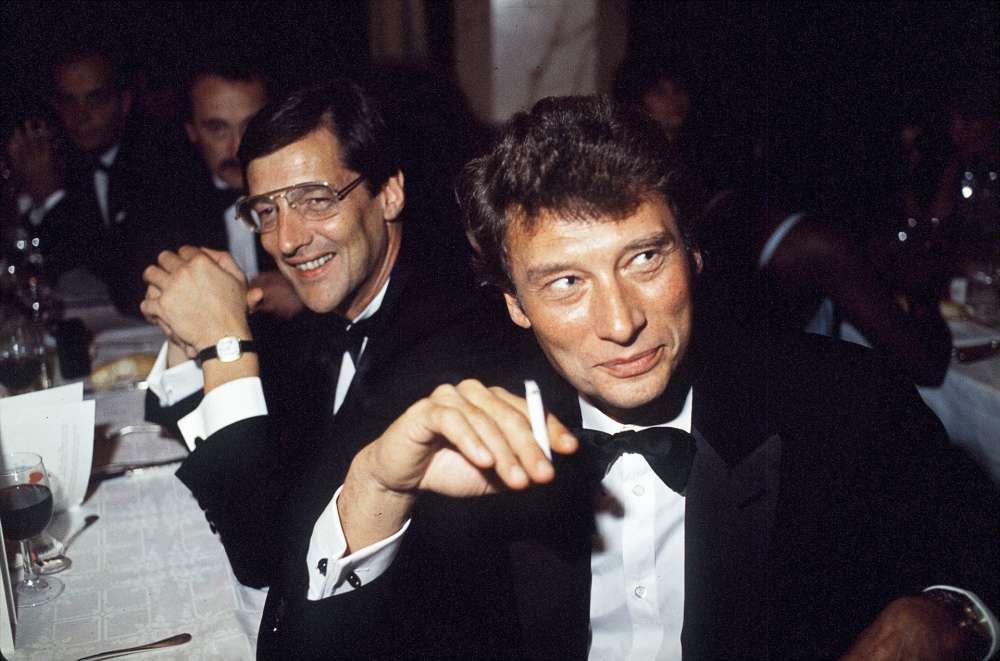 Jean-Claude Camus et Johnny Hallyday en 1983.