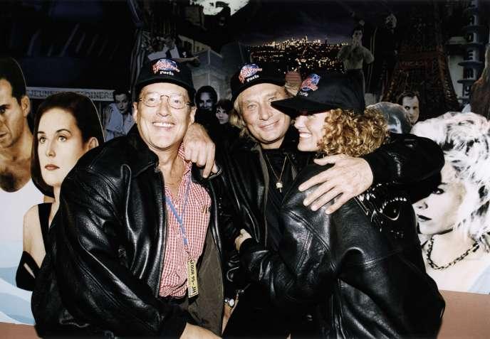 Jean-Claude Camus, Johnny Hallyday et Læticia en 1995.