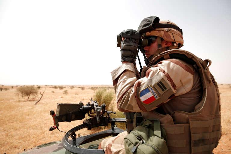 Un soldat français de l'opération «Barkhane» en octobre 2017, au Mali.